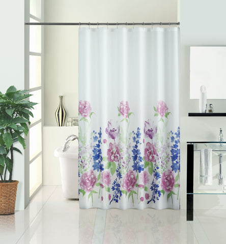 "Royal Bath Summer Meadow PEVA Non-Toxic Shower Curtain (71"" x 74"")"