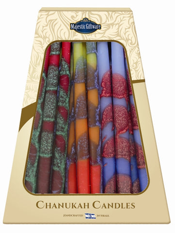 Ben&Jonah Safed Chanukah Candles - 45 Pack - Blue/Yellow/Red 6""
