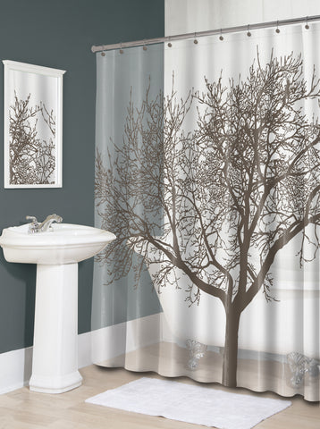 "Royal Bath Tree of Life PEVA Non-Toxic Shower Curtain (70"" x 72"") - Mocha"