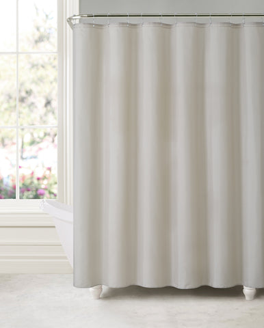"Royal Bath Taupe Water & Mildew Resistant Fabric Shower Curtain Liner (70"" x 72"") with Suction Cups (for Wall)"