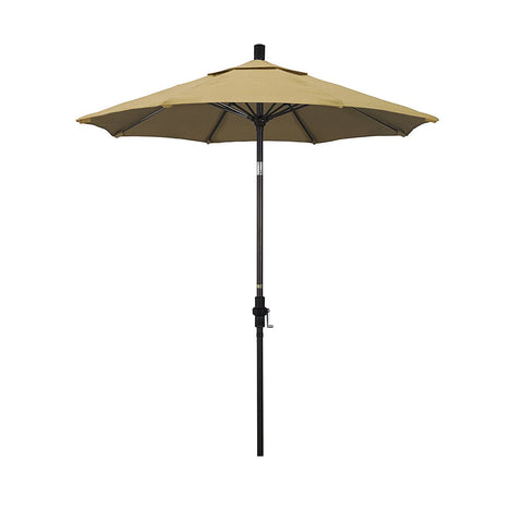 Eclipse Collection 7.5' Fiberglass Market Umbrella Collar Tilt - Bronze/Sunbrella/Linen Champagne