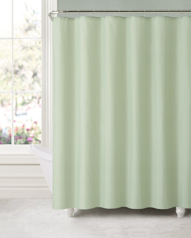 "Royal Bath Sage Green Water & Mildew Resistant Fabric Shower Curtain Liner (70"" x 72"") with Suction Cups (for Wall)"