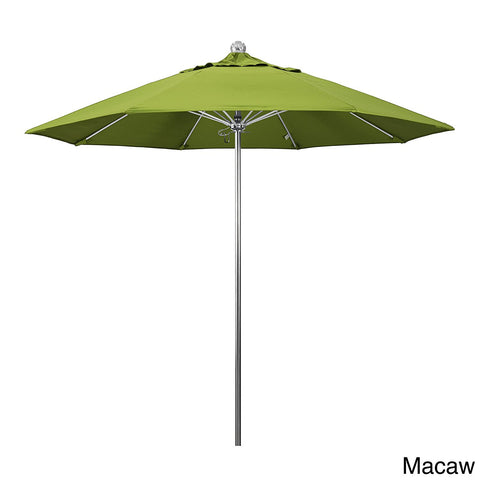 Eclipse Collection 9'SSteel SinglePole FGlass Ribs M Umbrella SV Anodized/Sunbrella/Macaw