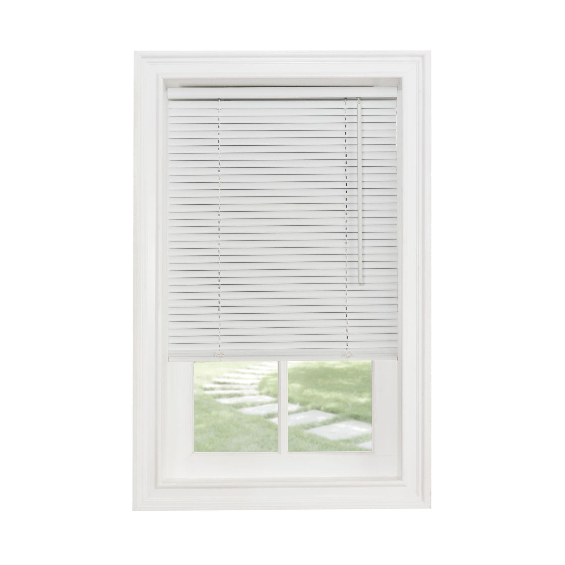 "Traditional Elegance Cordless Sunrise 1"" Light Filtering Mini Blind 33x64 - White"