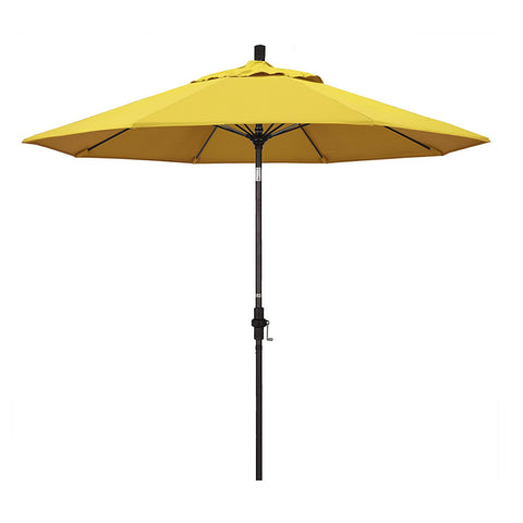 Eclipse Collection 9' Fiberglass Market Umbrella Collar Tilt Bronze/Olefin/Lemon