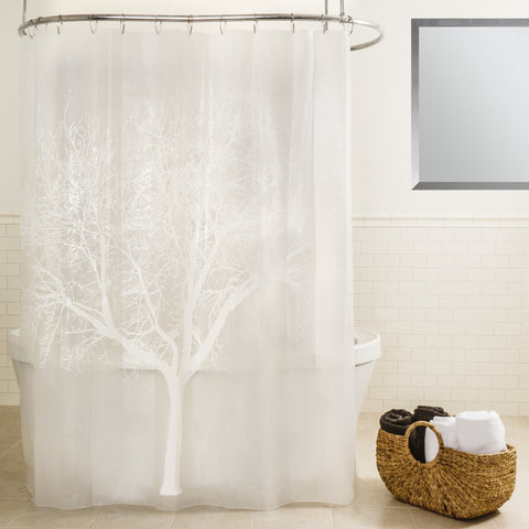 "Royal Bath Tree of Life PEVA Non-Toxic Shower Curtain (70"" x 72"") - Pearl"