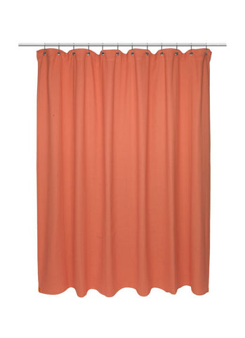 Park Avenue Deluxe Collection Park Avenue Deluxe Collection Extra Long Size 100% Cotton Chevron Weave Shower Curtain burnt coral.
