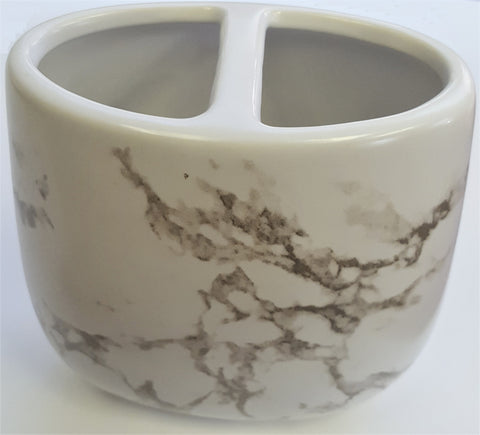 "Royal Bath Roman Pallace Collection Smoky Marble Toothbrush Holder (4""H x 4""W x 2""D)"