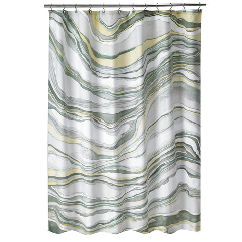"Royal Bath Hypnotic Marble Fabric Shower Curtain (70"" x 72"")"