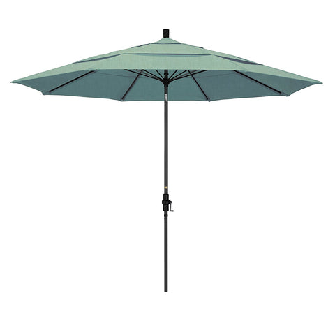 Eclipse Collection 11' Fiberglass Market Umbrella Collar Tilt DV Matted Black/Sunbrella/Spa