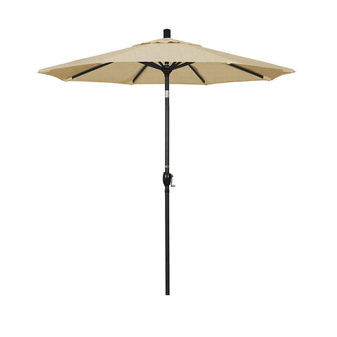 Eclipse Collection 7.5' Aluminum Market Umbrella Push Tilt M Black/Sunbrella/Linen Champagne