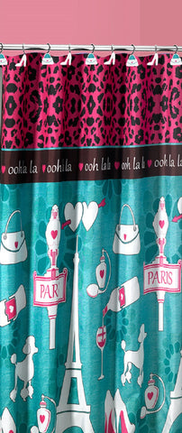 "Royal Bath Ooh La LA Paris Glamour Fabric Shower Curtain (70"" x 72"")"