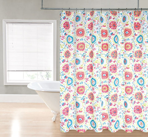 "Royal Bath Primavera Water Repellant Fabric Shower Curtain -70"" x 72"""