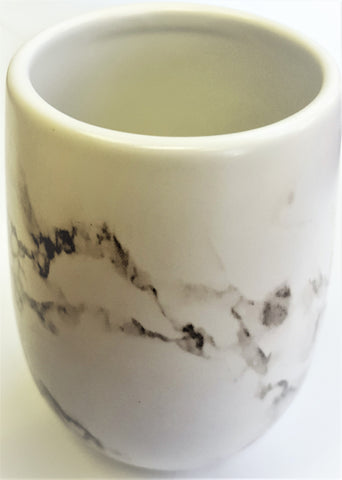"Royal Bath Roman Pallace Collection Smoky Marble Tumbler (4""H x 2.5""Dia)"