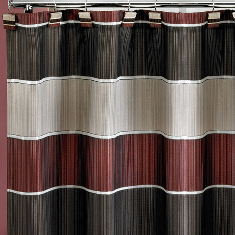 "Royal Bath Traditional Chic Striped Fabric Shower Curtain (70"" x 72"")"