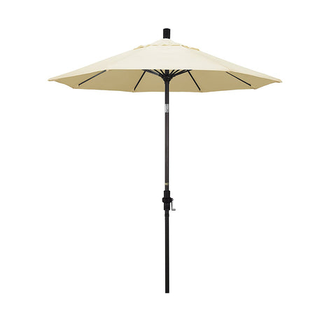 Eclipse Collection 7.5' Fiberglass Market Umbrella Collar Tilt - Bronze/Sunbrella/Canvas Vellum