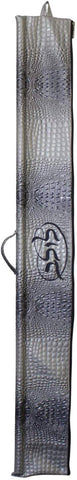 Ben and Jonah Vinyl Lulav Bag Grey Croc- Grey Embroidery Circle Style
