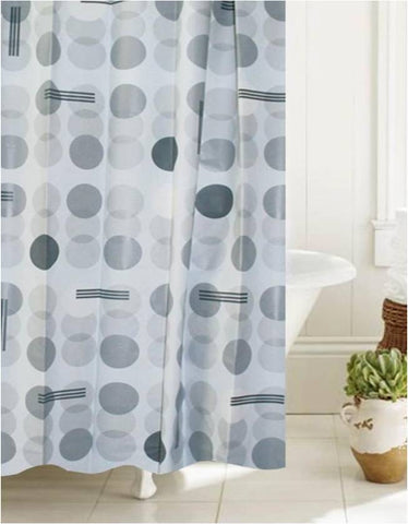 "Royal Bath Atomic Bond PEVA Non-Toxic Shower Curtain (70"" x 72"") with 12 Roller Hooks"