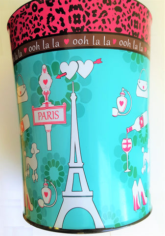 "Royal Bath Ooh La LA Paris Glamour Heavy Resin Waste Basket (10""H x 7.75""Dia)"