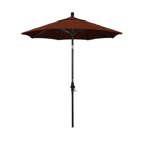 Eclipse Collection 7.5' Fiberglass Market Umbrella Collar Tilt - Bronze/Sunbrella/Canvas Brick