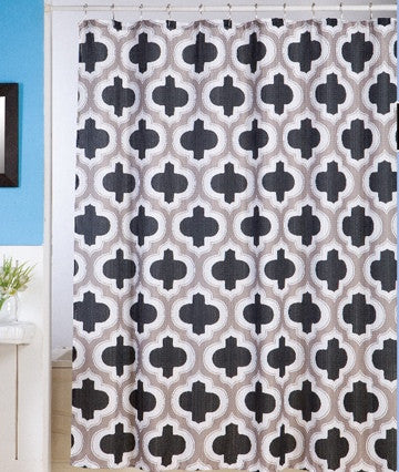 Monaco Jacquard Fabric Shower Curtain