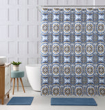 "Royal Bath Floral Mandalla Embossed Microfiber Fabric Shower Curtain - 72"" x 72"""