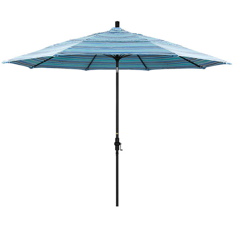 Eclipse Collection 11' Fiberglass Market Umbrella Collar Tilt DV Matt Black/Sunbrella/Dolce Oasis