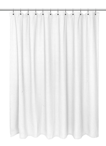 Park Avenue Deluxe Collection Park Avenue Deluxe Collection Standard Size 100% Cotton Chevron Weave Shower Curtain white.