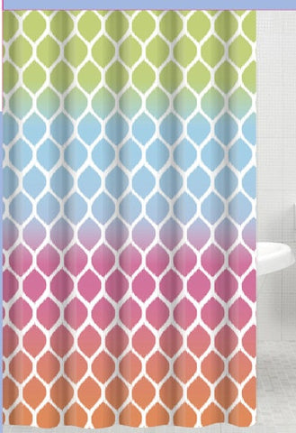 Ombre Watercolor Jacquard Fabric Shower Curtain