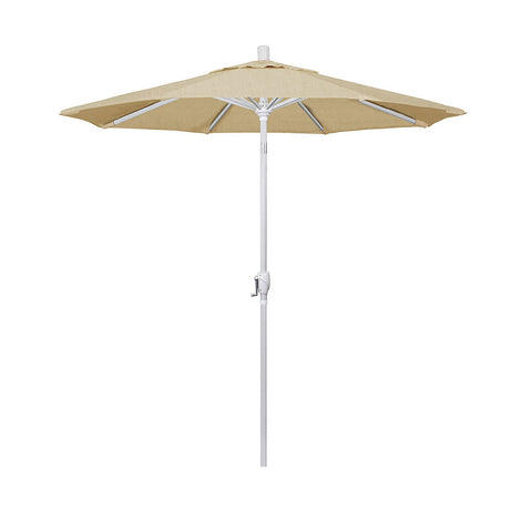 Eclipse Collection 7.5' Aluminum Market Umbrella Push Tilt Matte White/Sunbrella/Linen Champagne