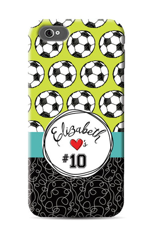 I love soccer Phone Case