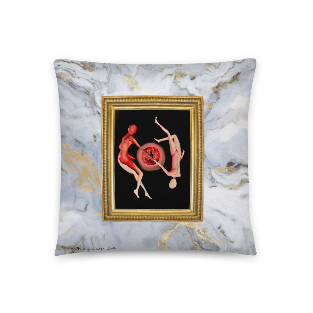 """A Lovers Affirmation"" + ""Venus in Scorpio"" Pillow"
