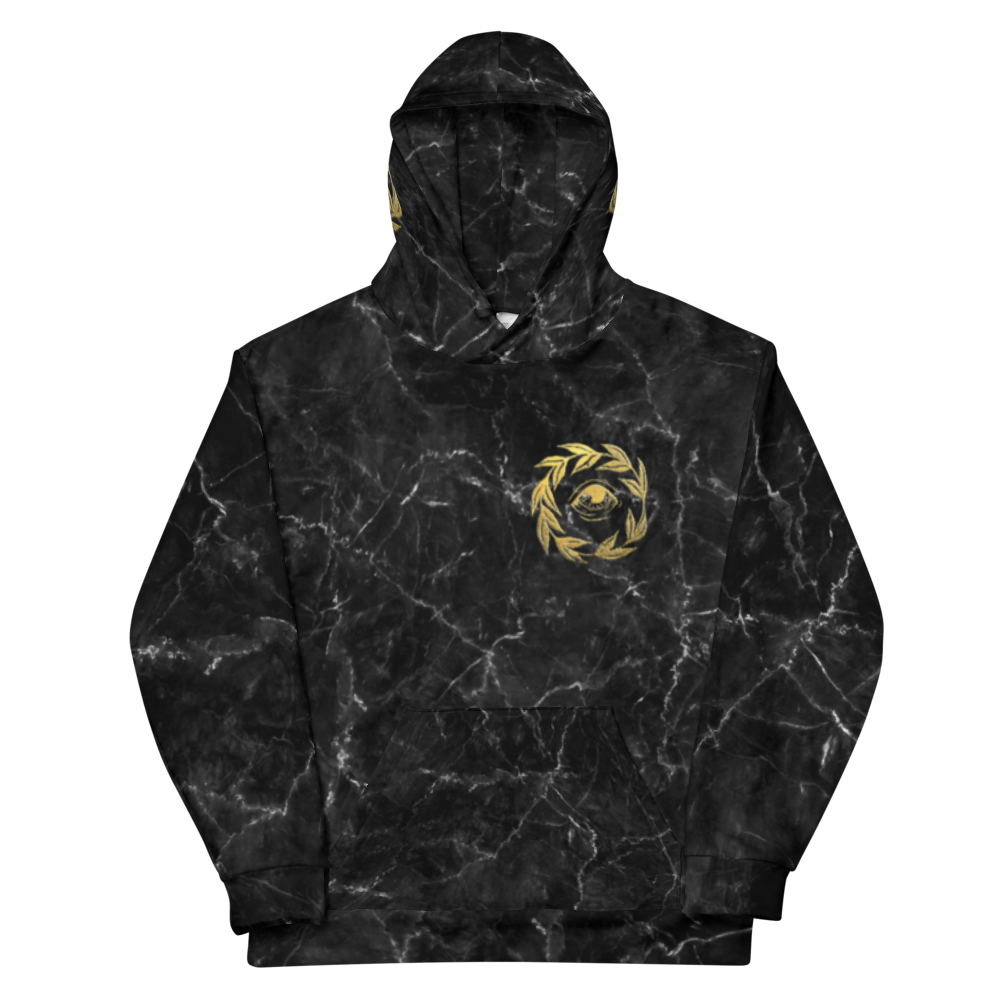 """Golden Eye"" + Marble All-Over Print Hoodie"