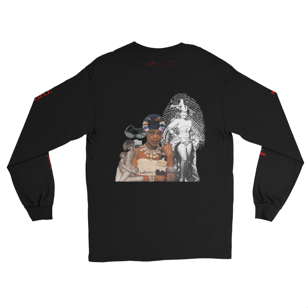 """Freedom Through Creation"" + ""Baecation""  Long Sleeve With Back + Sleeve Prints"