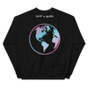 """Support Trans Futures"" Black Crewneck with Globe Back"