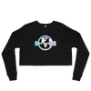 'Safe Travels' Logo Black Crop Crewneck Sweatshirt