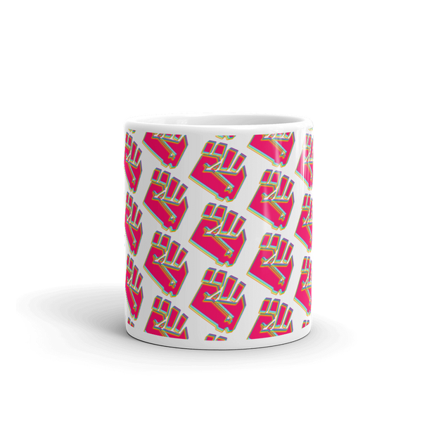 Hot Pink Fist Pattern Mug