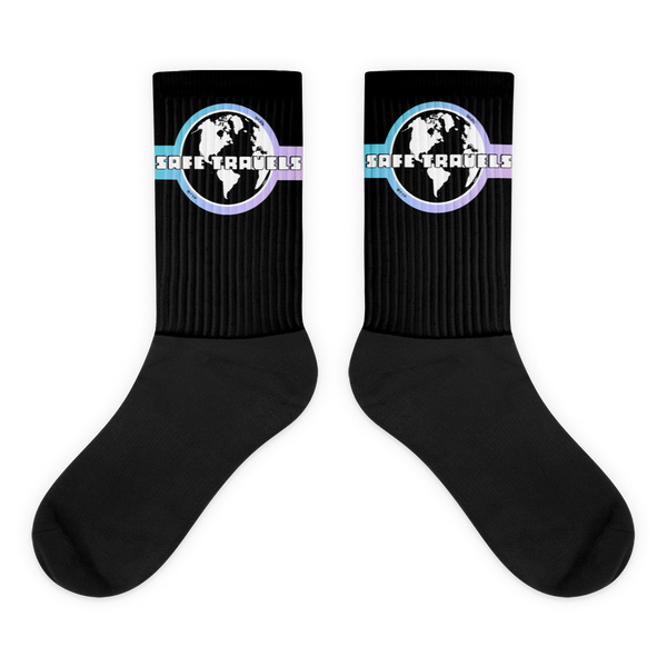 'Safe Travels' Logo Socks
