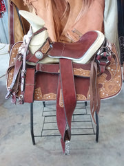 Montura Charra color Guinda. Mexican Charro Saddle