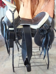 Montura Charra color NEGRO. Mexican Charro Saddle