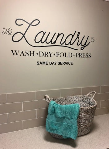 Laundry Vinyl Decal