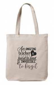 Amazing Teacher Canvas Tote
