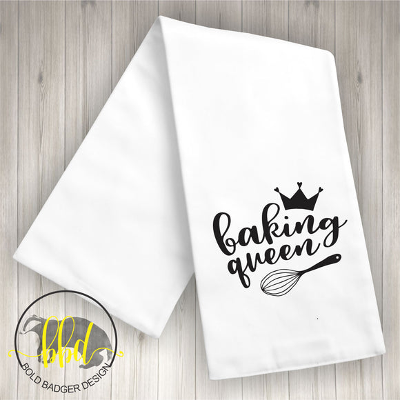 Baking Queen Tea Towel