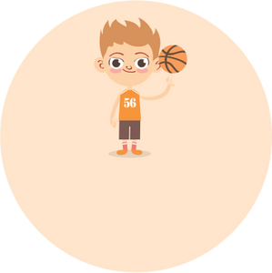 Basketball Boy Label