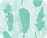 Feathers Aqua Label