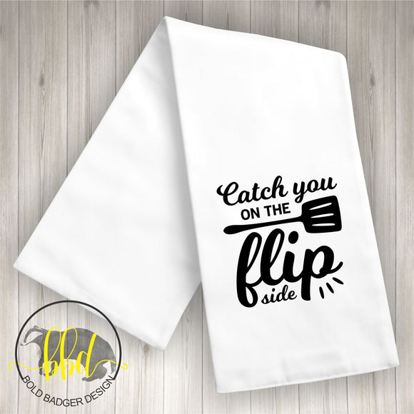 Flip side Tea Towel