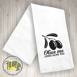 Olive Me Tea Towel