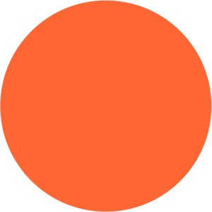 Orange Single Colour Label