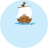Pirate Ship Label