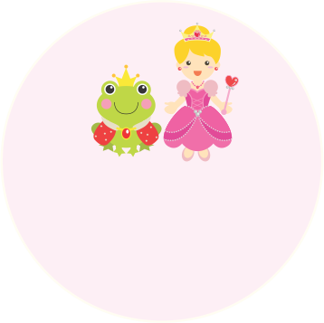Princess Frog Label